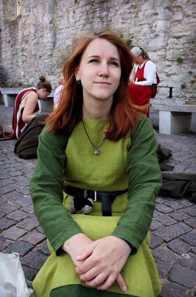 Faux medieval dress